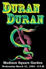 DURAN DURAN - Madison Square Garden, New York 1984 Original Concert Poster