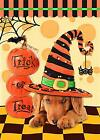 happy halloween hat dog trick or treat