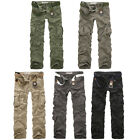 New Mens Combat Cargo Army Pants Military Camo Overalls Casual Workwear Trousers