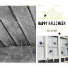 Halloween Spider Web Plush Cotton Haunted House Decoration Supplies Simulation