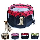Oxford Pet Dog Cat Playpen Tent Portable Fence Outdoor Kennel Cage House Crate