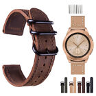 Retro Genuine Leather Wrist Watch Band Strap For Samsung Galaxy Watch 42mm 46mm image
