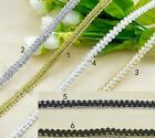 5m/lot High Qulality Trim Sewing Lace Gold Silver Centipede Braided Lace Ribbon