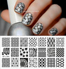 Born Pretty Lace Flowers Nail Stamping Plates Stamp Templates Manicure Tips Salo