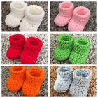 Внешний вид - 17 Color Baby Booties Crochet Handmade Size 0-3 Months