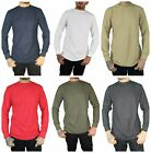 Men's VERTICAL SPORT Waffle Thermal Shirt Long Sleeve Crew N