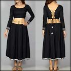 JKK Mart Skirt With Blouse Black tribe Fashion dress