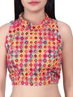 Multicolored Collar Blouse Embellished window Wedding Party Choli Bollywood BL16
