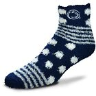 Penn State Nittany Lions NCAA For Bare Feet Homegator Navy Fuzzy Socks
