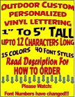 Personalized Custom Vinyl Sticker Decal Outdoor Lettering Car Window $1.99 & Up!