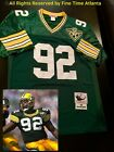 NEW Reggie White Green Bay Packers Men's M&N Green/Home Retro Jersey Favre on eBay