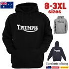 TRIUMPH Classic Logo Motorcycle Hoodie Chopper Vintage Men's Women's T-Shirts $39.11 AUD on eBay