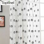 New Embroidered Football Sheer Curtains for Living Room Bedroom Children Kids Ro