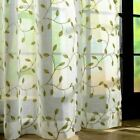 1 Pc Embroidery Leaves Sheer Tulle Curtains For Living Room  Window Screening Ey