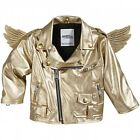 SALE! Adidas Jeremy Scott Gold Wings Biker Baby Toddler Jacket Little Angels