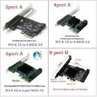 PCIe to SATA3.0 2Port 4Port 6Port SATA III Expansion Controller Adapter Card new