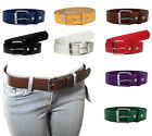 Внешний вид - NEW Kids Junior Size Thick Leather Belts w/ Removable Silver Buckle Many Colors