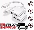 Lightning to 3.5mm / Dual Lightning AUX Adapter Headphone Jack For iPhone X 7 8