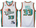 Grant Hill #33 Detroit Pistons Men's White Hardwood Classics Throwback Jersey
