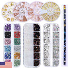 Colorful Crystal Nail Rhinestones 3D Stickers Acrylic Studs  Decoration, used for sale  USA