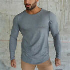 Bodybuilding Men's Long Sleeve T-shirt Slim Muscle Tops Fitness Gym Workout Tee
