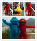 Big Bird Elmo Cookie Sesame Street Mascot Costume suits Fancy Dress Adults Size