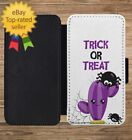 Trick Or Treat Cactus Halloween Wallet Phone Case for iPhone 5 6 7 8 X XS Max XR