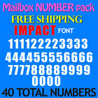 "Mailbox Number Decals Impact 1/2"" 3/4"" 1"" 1.5"" 2"" 2.5""  3"" Free Ship Stickers"