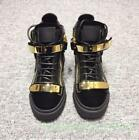 Occident Chic Mens/Womens Bling High Top Board Shoes Two Buckle Lace Up Zipper