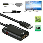 USB-C Type C to HDMI Adapter USB 3.1 Cable For MHL Android Phone Tablet Black