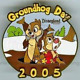 Disney Pin 36278 DLR Groundhog Day 2005 Chip 'n' Dale LE 1000 Rescue Rangers *