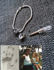 Engraved Cremation ashes urn Pandora/ Slider charm MEMORIAL Bracelet LOCKET