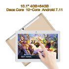 "10.1"" 4GB 64GB Tablet Computer PC Android 7.11 Deca Core Phablet Built-in MIC"