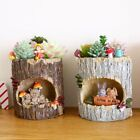 Tree House Resin Animals Flower Pots Succulent Plant Microlandscape Fairy Garden