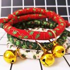 Adjustable Pet Dog Cat Collar With Bell Kitty Puppy Christmas Costume Xmas Gifts