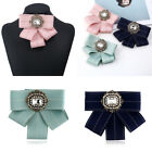 1Pc Women Bow Tie Fashion Necktie Rhinestone Decor Novelty Cloth Accessories