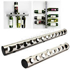 Stainless Steel 8/12 Hole Bottle Wall Mounted Kitchen Bar Wine Rack Holder