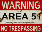 REPLICA AREA 51 METAL SIGN, 2 Sizes Available ideal for bar, Man Cave Ufo