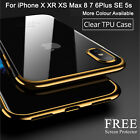CLEAR Case For iPhone X XS Cover Shockproof 360 Silicone Gel Protective TOUGH 