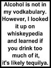 ALCOHOL FUNNY SIGN, 2 Sizes Available ideal for pub, bar, Man Cave