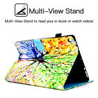 For Amazon Kindle Fire HD 8 2018 /HD 10 Smart Patterned Leather Stand Case Cover