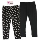 NWT 2 PC Toddler Girls Leggings Black and Black with Ribbons - Size 2T, 3T, 4T