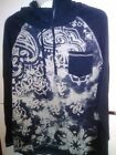 Overdrive UNISEX  Size S, M,LG,XL HOODED NAVY/GRAY HEATHER GRAPHIC L/S SHIRT NWT