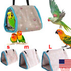 US Bird Hammock Hanging Cave Cage Plush Snuggle Fun Hut Tent Bed Bunk Parrot Toy