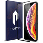 For iPhone XS /XR / XS MAX Screen Protector,Poetic Full Coverage Tempered Glass