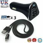 Fast Rapid USB-C Car Charger For Samsung Galaxy S8 S9 Plus S10 & Type C Cable