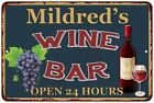 Mildred's Green Wine Bar Wall Décor Kitchen Gift Sign Metal 112180043678