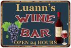 Luann's Green Wine Bar Wall Décor Kitchen Gift Sign Metal 112180043368
