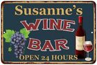 Susanne's Green Wine Bar Wall Décor Kitchen Gift Sign Metal 112180043784