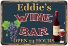 Eddie's Green Wine Bar Wall Décor Kitchen Gift Sign Metal 112180043373